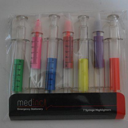 7 Syringe Highlighters in Medinc Packaging Darker image