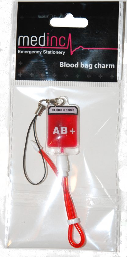 Blood Bag Key Chain Charm