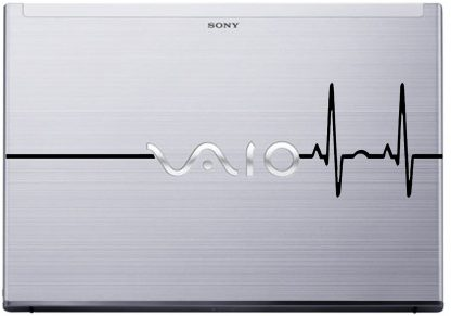 Heart Rate Laptop Decal Vaio