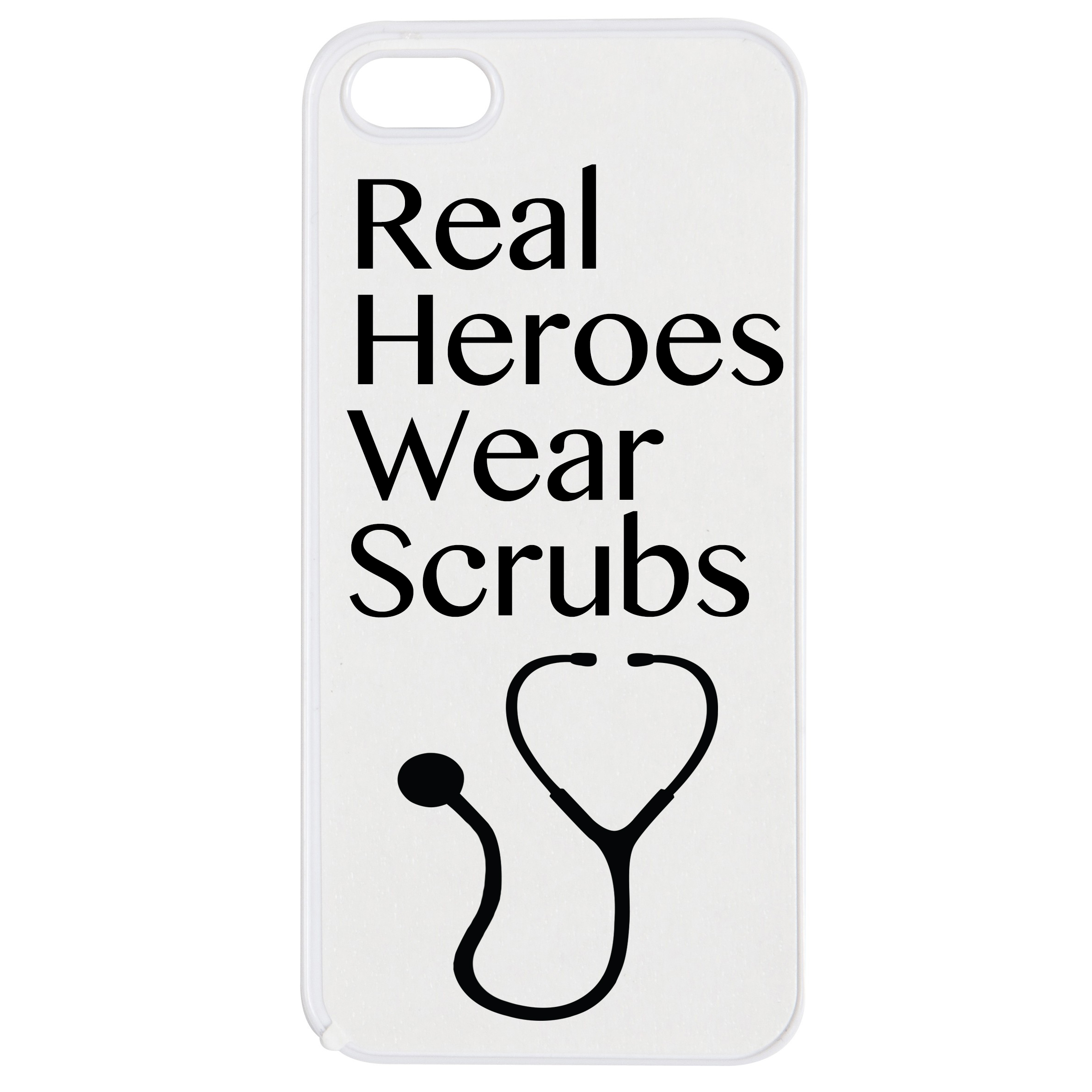 Real Heroes wear scrubs iPhone phone case