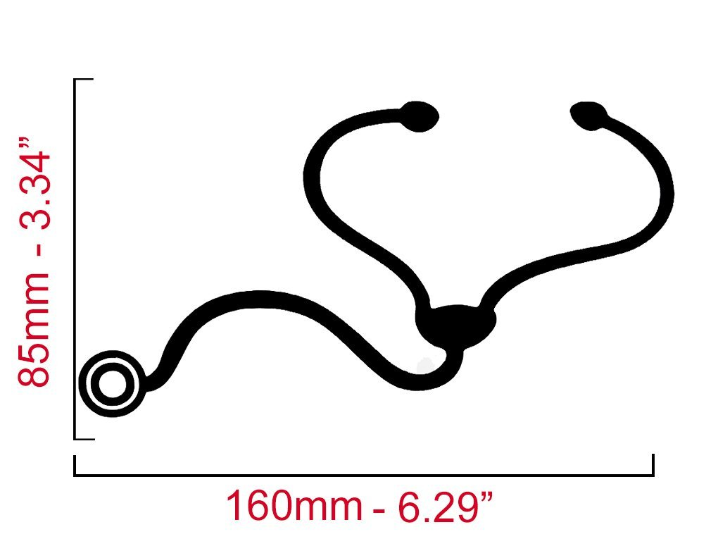 Stethoscope Laptop Decal
