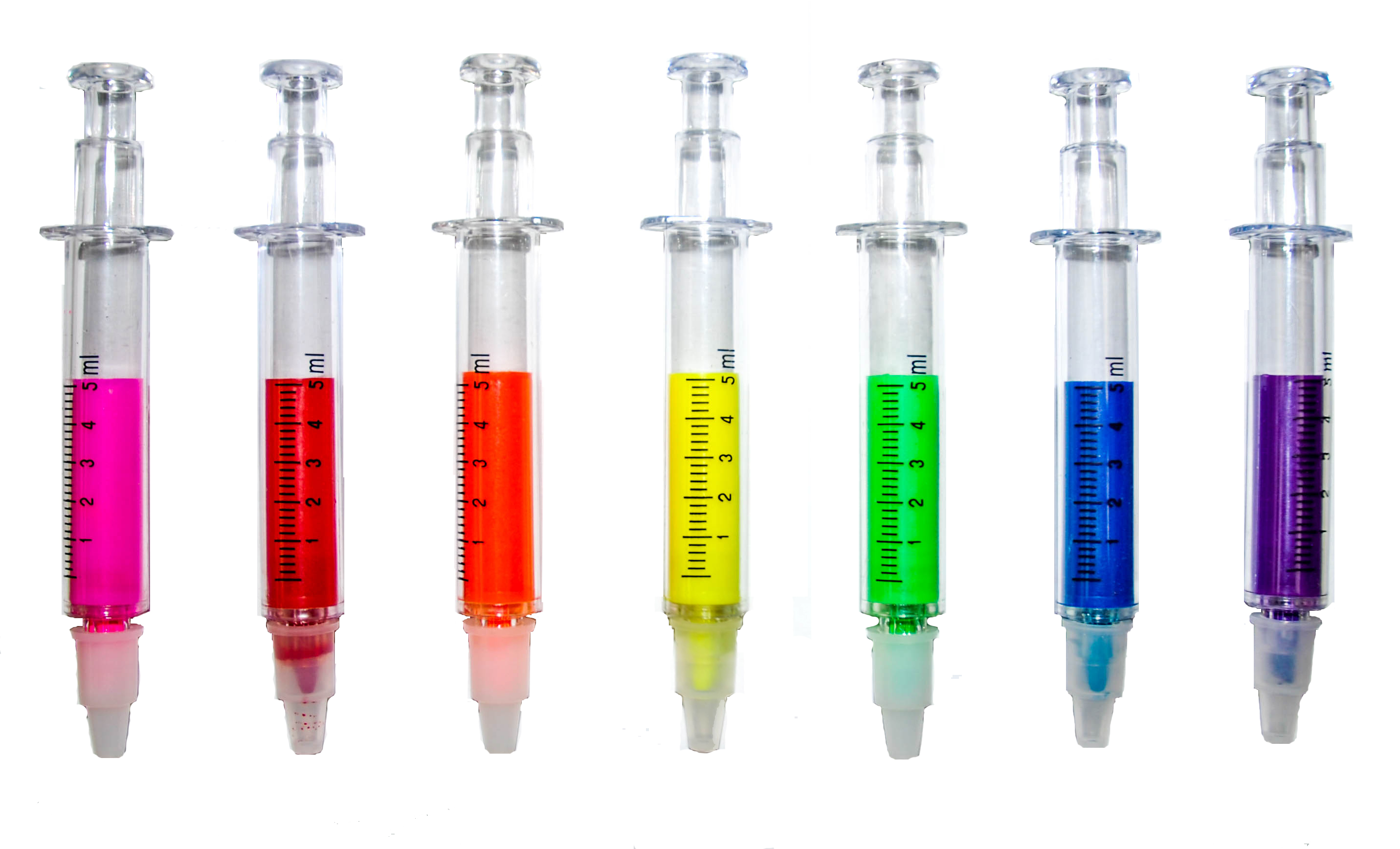 Syringe Highlighters all 7 colours