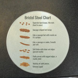 Bristol Stool Chart Glass Coaster