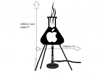 Bunsen Burner Laptop Decal size guide