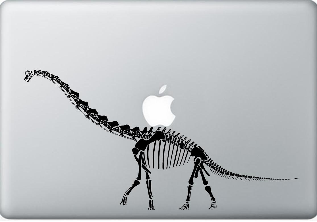 Diplodocus laptop decal