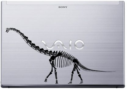 Diplodocus laptop decal sony Vaio