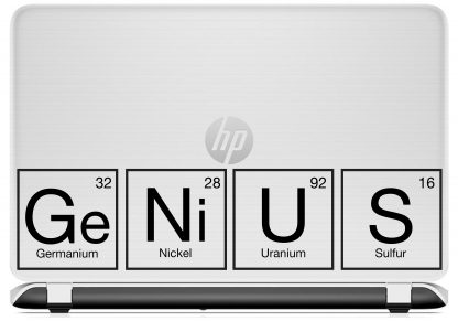 Genius Periodic Table laptop decal HP