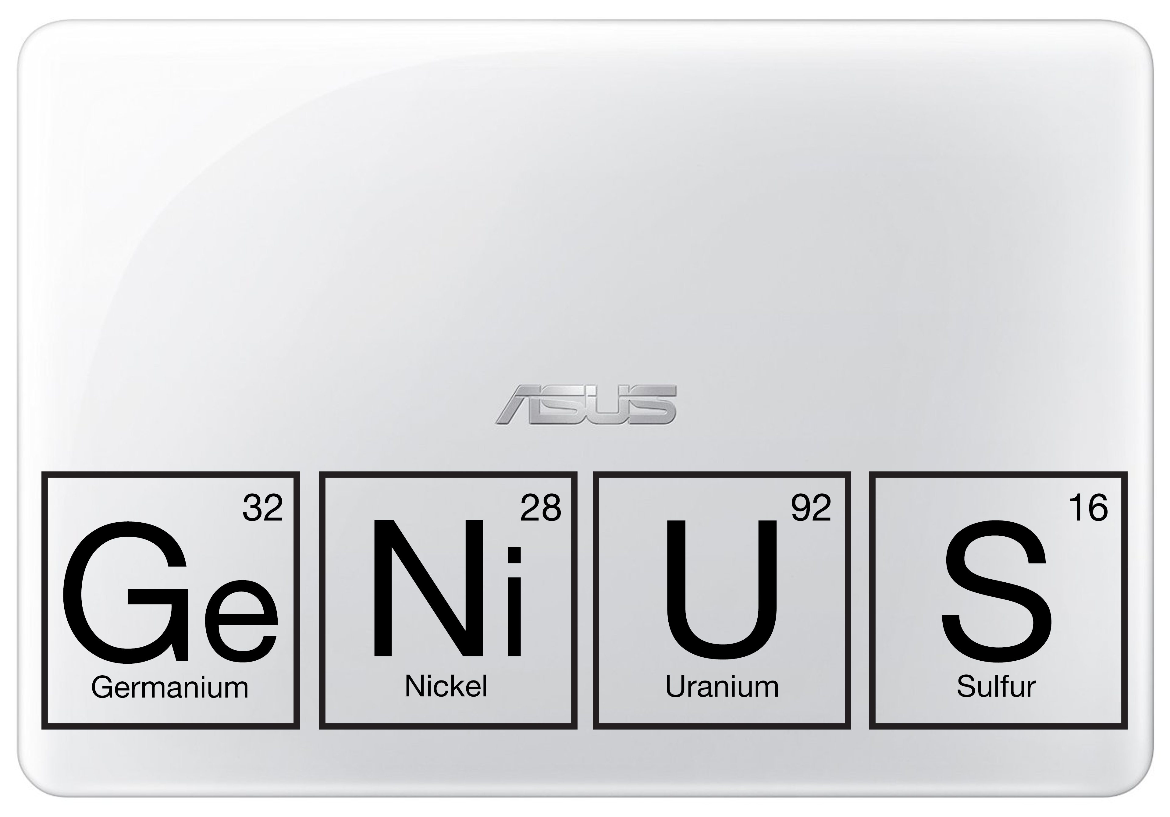 Genius periodic table laptop decal for all laptops genius periodic table laptop decal gamestrikefo Image collections