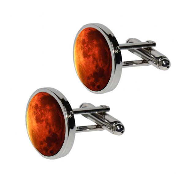 Mars Cufflinks for Astronomy Fans